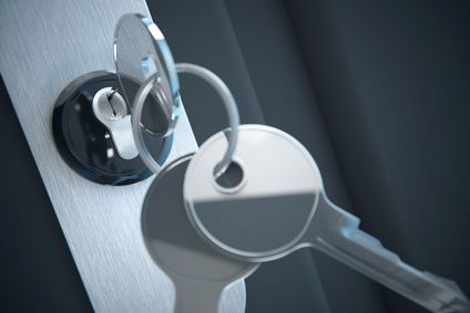 Fensterrahmen mit Schlüssel